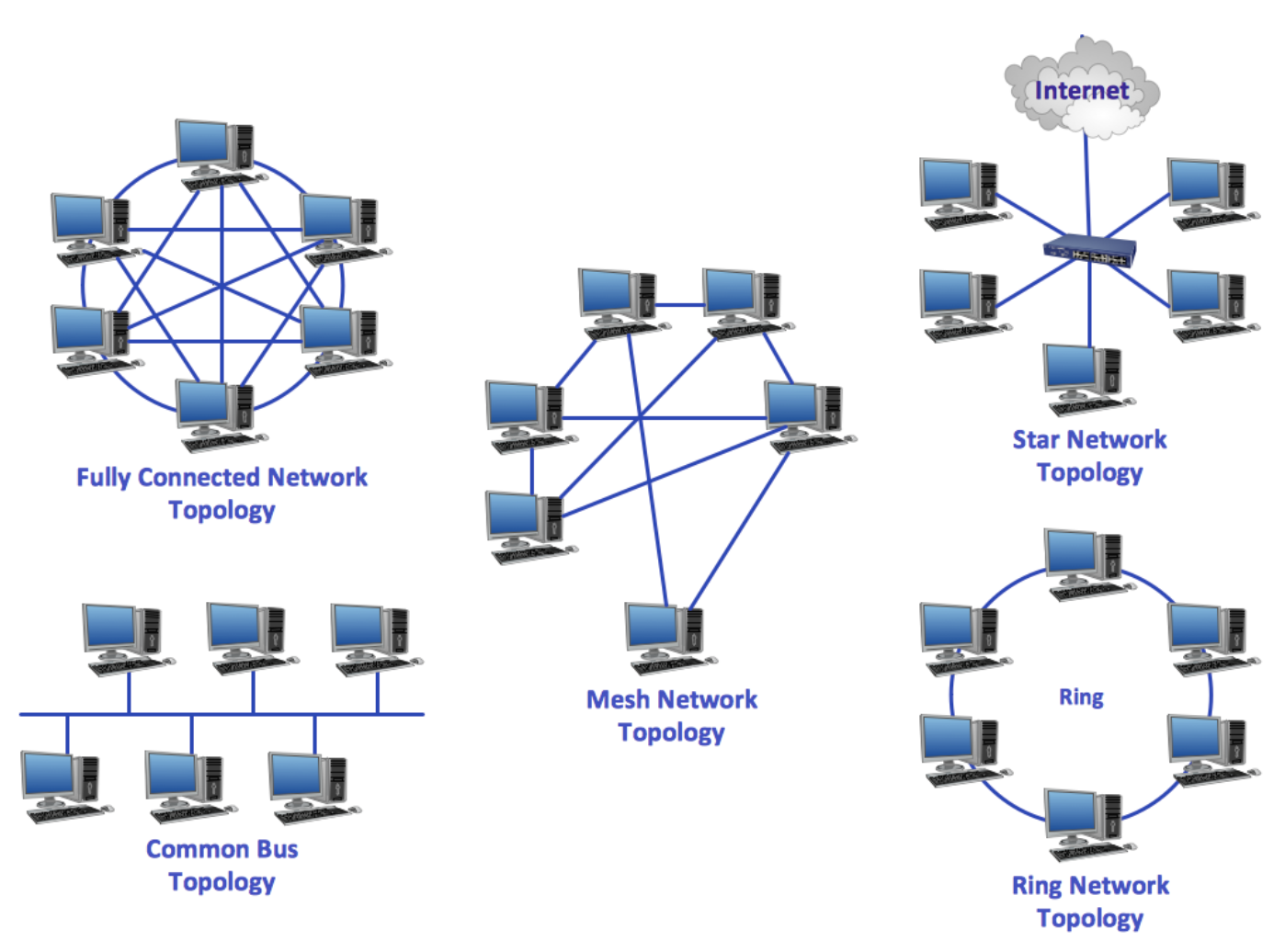 The Various Types of Network Topologies